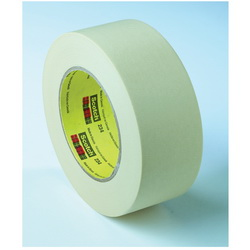 3M™ 021200-02982 234 General Purpose Masking Tape, 55 m L x 24 mm W, 5.9 mil THK, Rubber Adhesive, Crepe Paper Backing