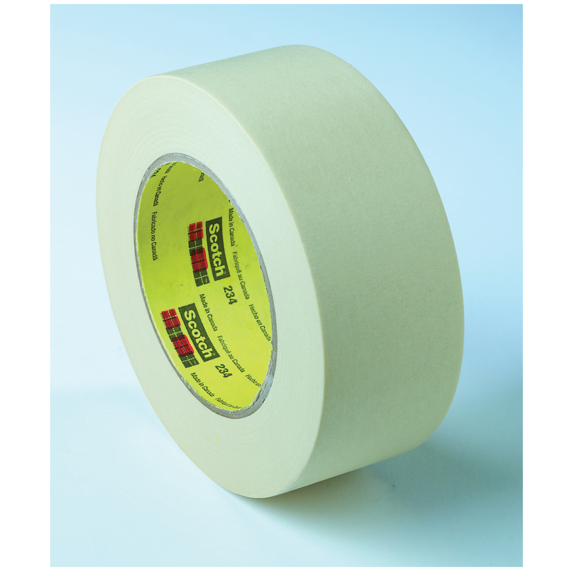 3M™ 234-30mmx55m General Purpose Masking Tape, 55 m L x 30 mm W, 5.9 mil THK, Rubber Adhesive, Crepe Paper Backing