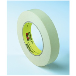 3M™ 021200-04243 234 General Purpose Masking Tape, 55 m L x 30 mm W, 5.9 mil THK, Rubber Adhesive, Crepe Paper Backing