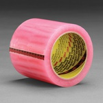 Scotch® 021200-04132 Label Protection Tape, 72 yd L x 3 in W, 2.5 mil THK, Acrylic Adhesive, 1.6 mil Acetate Backing, Pink