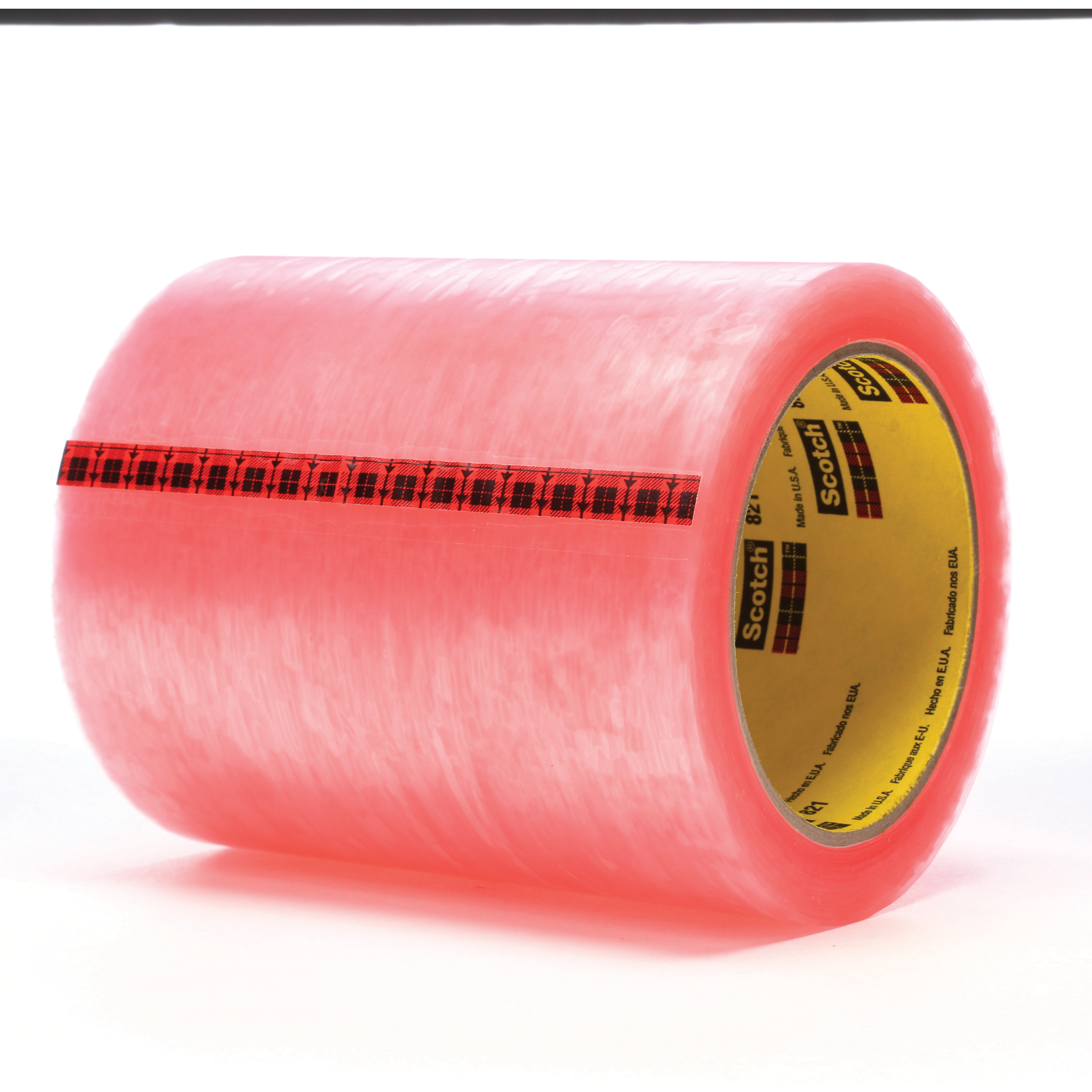 Scotch® 021200-04134 Label Protection Tape, 72 yd L x 5 in W, 2.5 mil THK, Acrylic Adhesive, Acetate Backing, Pink