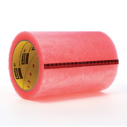Scotch® 021200-04135 Label Protection Tape, 72 yd L x 6 in W, 2.5 mil THK, Acrylic Adhesive, 1.6 mil Acetate Backing, Pink