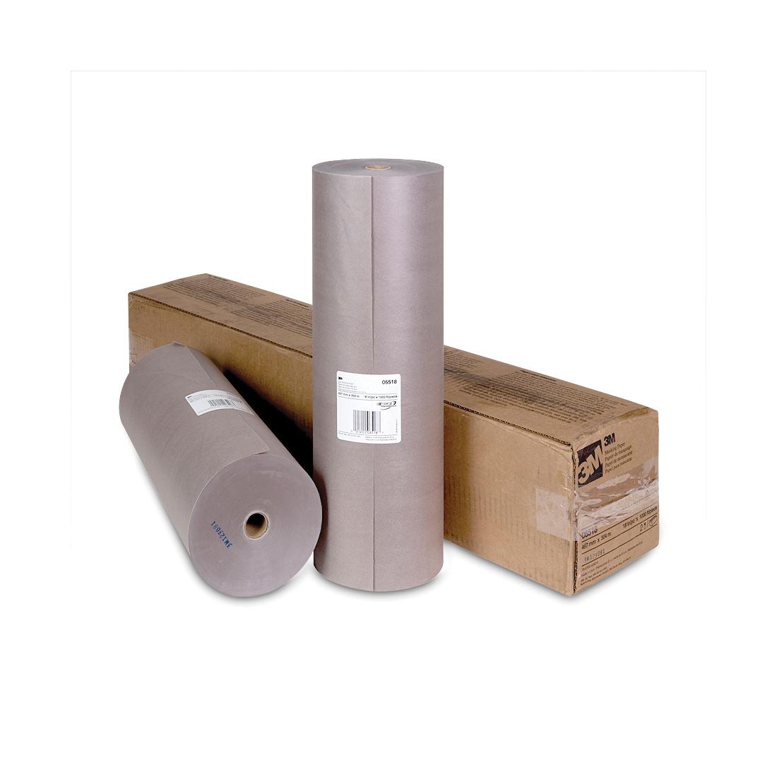 Scotch® 021200-06518 Masking Paper, 1000 ft Roll L x 18 in W x 2.8 mil THK, Paper, Steel Gray