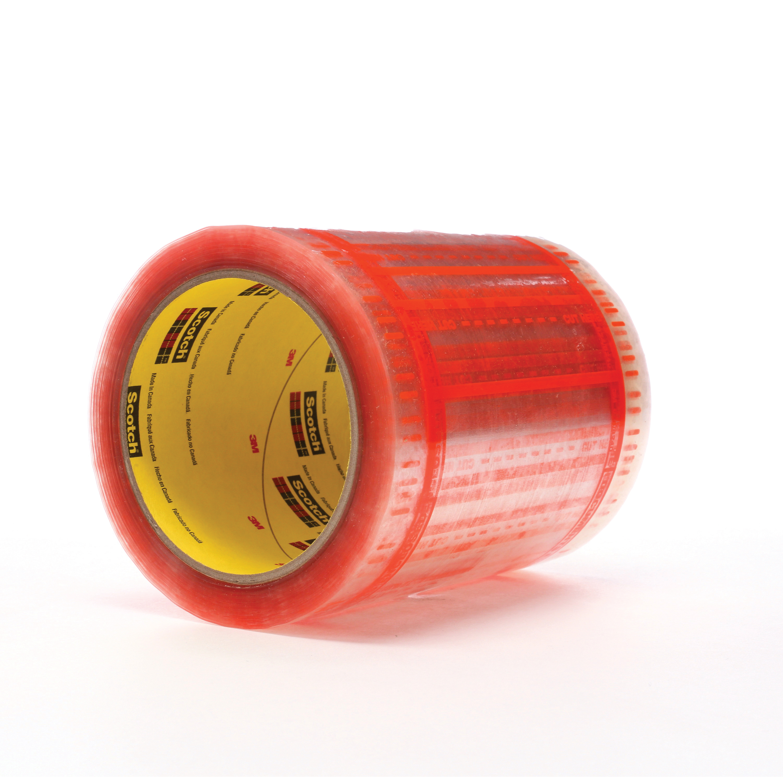 Scotch® 021200-22913 824 Pouch Tape, 6 in L x 5 in W, Polypropylene, Transparent