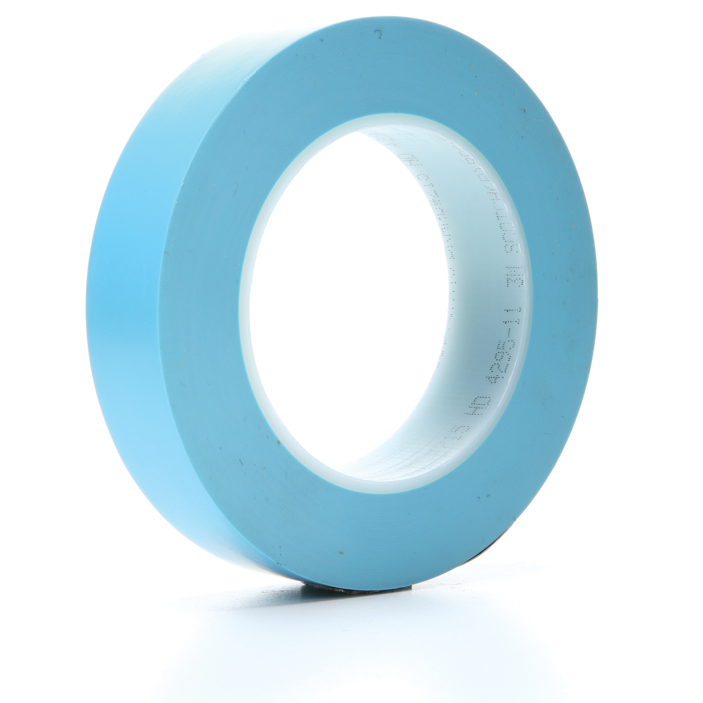 "3M™ 215-1""x60yd-Blue Fine Line Tape, 60 yd L x 1 in W, 4.8 mil THK, Rubber Adhesive, Copolymer Plastic Film Backing"