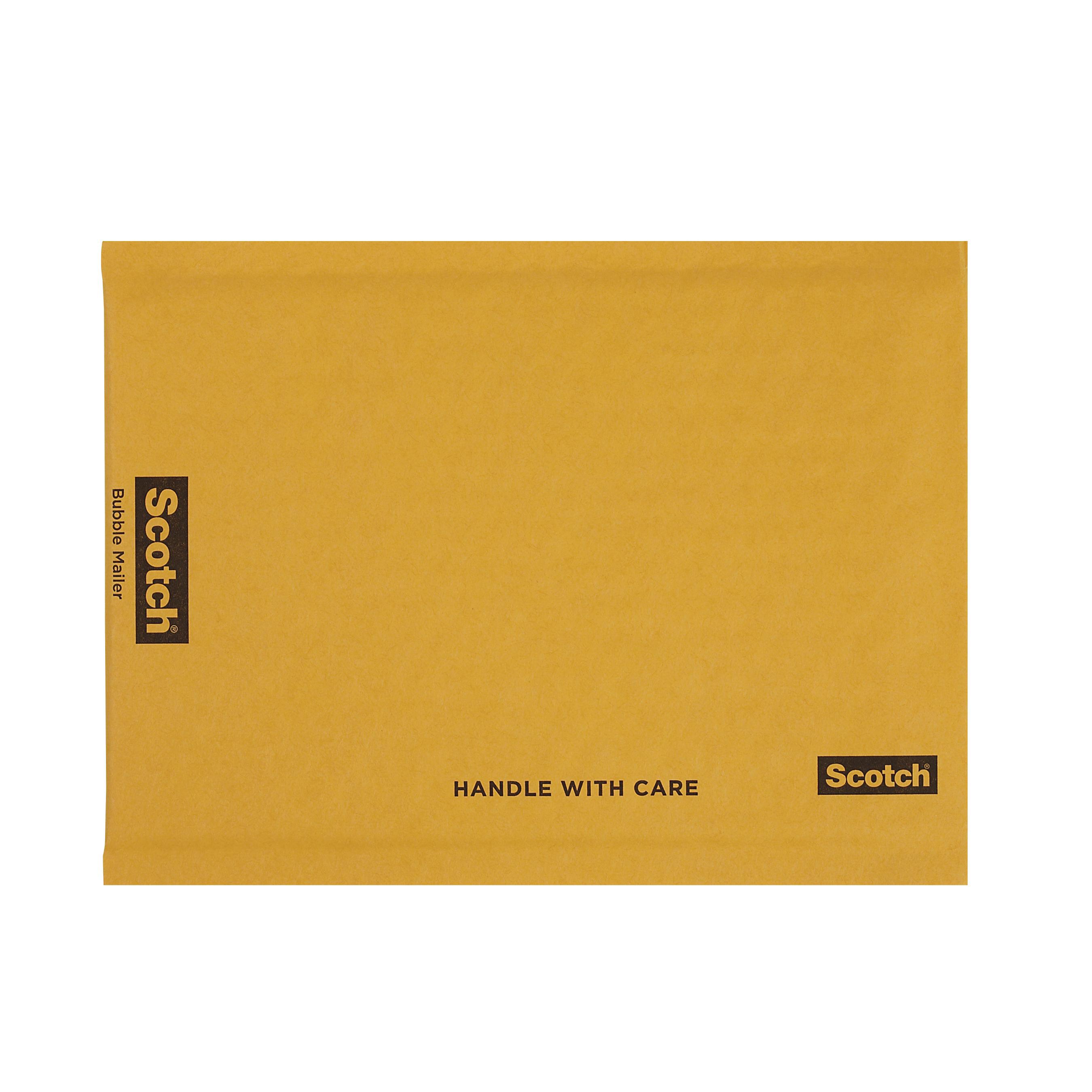 Scotch® 051131-60552 7913 Lightweight Bubble Mailer, 9 in L x 6 in W, Paper, Kraft, Self-Sealing Closure