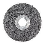 3M™ 048011-01021 CS-UW Clean and Strip Unitized Wheel, 4 in Dia Wheel, 1/4 in Center Hole, 1 in W Face, Extra Coarse Grade, Silicon Carbide Abrasive