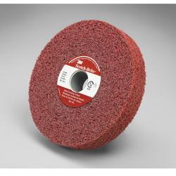 3M™ 048011-01863 MF-WL Convolute Metal Finishing Wheel, 6 in Dia Wheel, 1 in Center Hole, 1 in W Face, Coarse Grade, Aluminum Oxide Abrasive