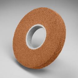 Scotch-Brite™ 048011-02965 CP-WL Convolute Cut and Polish Wheel, 8 in Dia Wheel, 3 in Center Hole, 1 in W Face, Fine Grade, Aluminum Oxide Abrasive