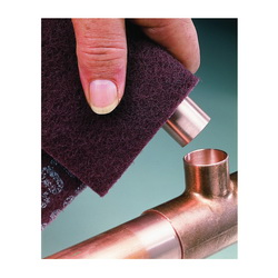 3M™ 7447 General Purpose Hand Pad, 9 in L, 6 in W W/Dia, 1/4 in THK, Very Fine Grade, Aluminum Oxide Abrasive