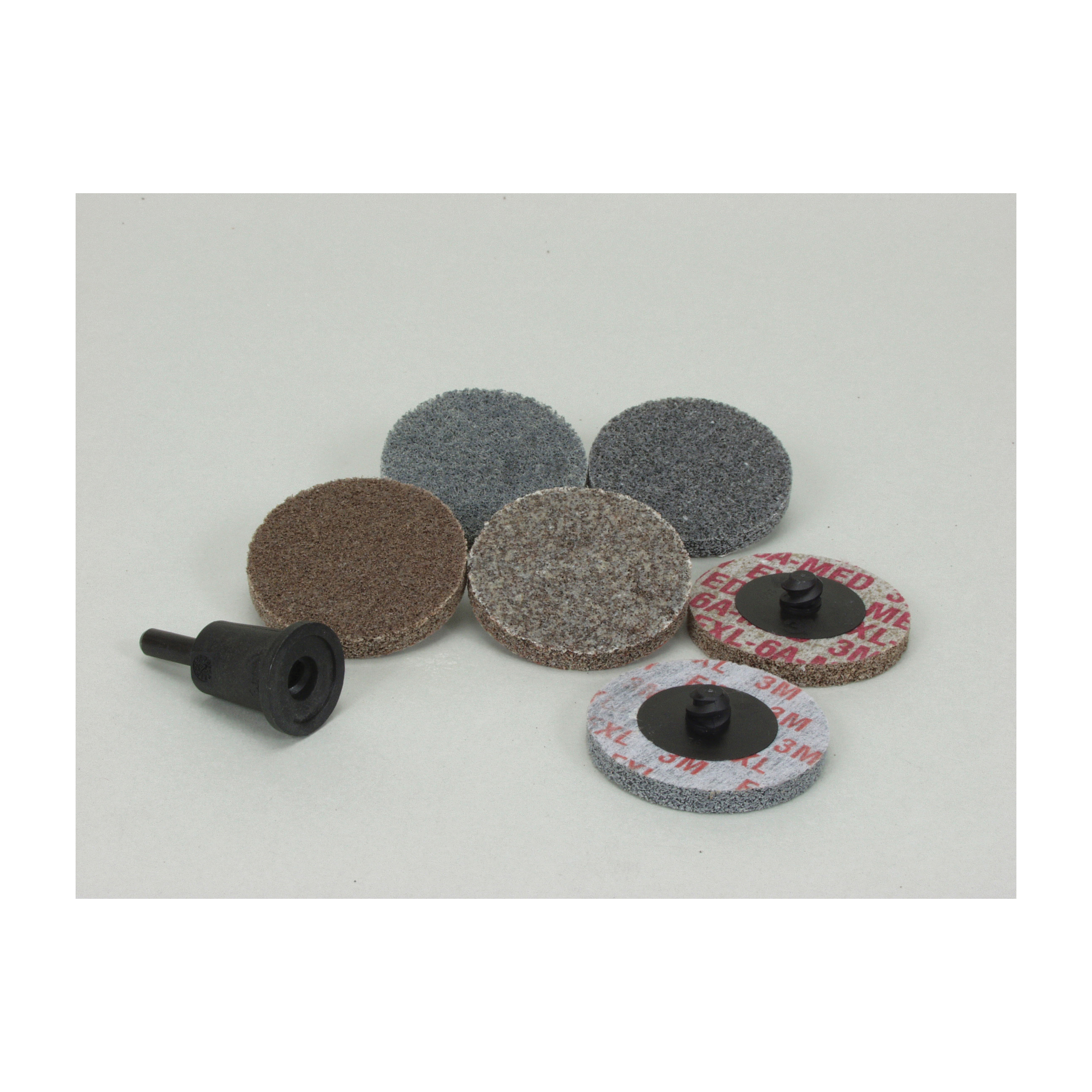Scotch-Brite™ Roloc™ 048011-17181 987S Quick-Change Unitized Wheel Set, 7 Pieces, Aluminum Oxide/Silicon Carbide Abrasive, 2 in Dia Wheel/Disc, Coarse/Medium Grade, Quick-Change Connector