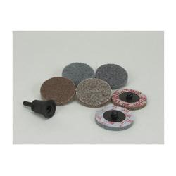 Scotch-Brite™ Roloc™ 048011-17181 Unitized Wheel Set, 7 Pieces, Aluminum Oxide/Silicon Carbide Abrasive, 2 in Dia Wheel/Disc, Coarse/Medium Grade, Quick-Change Connector