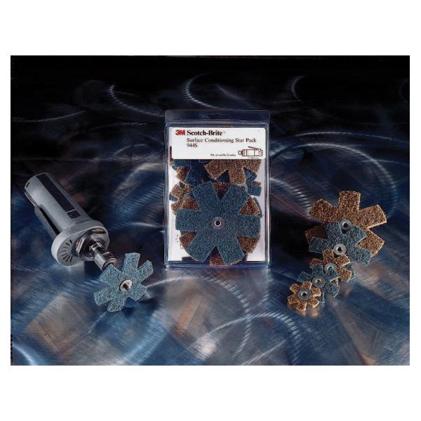 Scotch-Brite™ 048011-18255 944S Coated Sanding Star Set, 1-1/2 in, 2 in, 3 in, 4 in Dia Star, Coarse/Very Fine Grade