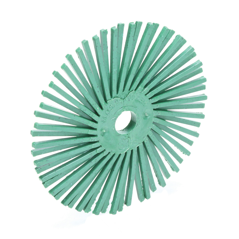 Scotch-Brite™ 048011-24279 RB-ZB Flexible Radial Bristle Disc Brush, 3 in Dia Brush, 3/8 in Arbor Hole, 50 Grit, Coarse Grade, Ceramic Fill