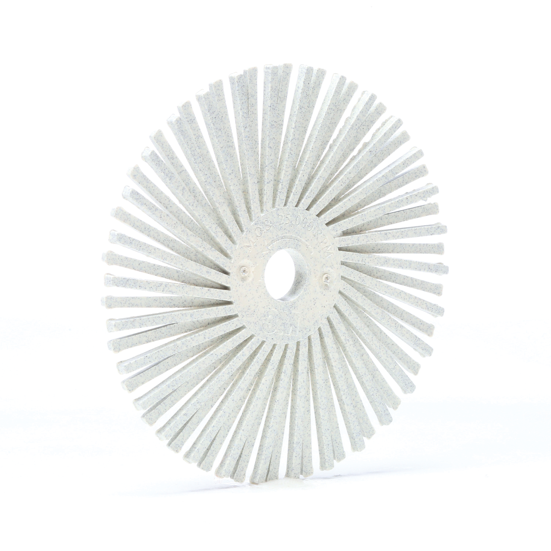 Scotch-Brite™ 048011-24281 RB-ZB Radial Bristle Brush, 3 in Dia Brush, 3/8 in Arbor Hole, 120 Grit, Fine Grade, Ceramic Fill