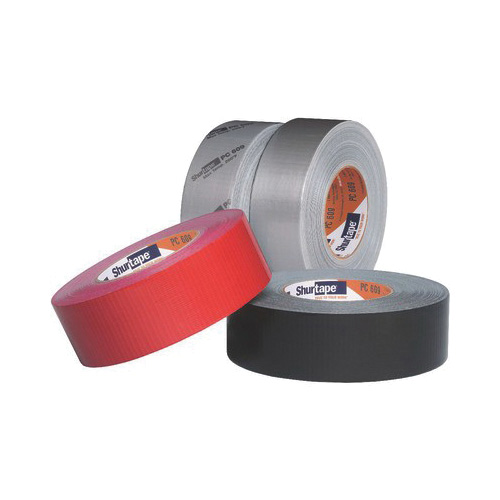 Shurtape® 149263 PC 609 Co-Extruded Performance-Grade Duct Tape, 55 m L x 48 mm W, 10 mil THK, Blended Rubber Adhesive, Polyethylene Film with Cloth Carrier Backing, Silver