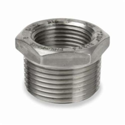 Smith-Cooper® S3114HB003002 Hex Head Pipe Bushing, 3/8 x 1/4 in, FNPT, 150 lb, 304 Stainless Steel