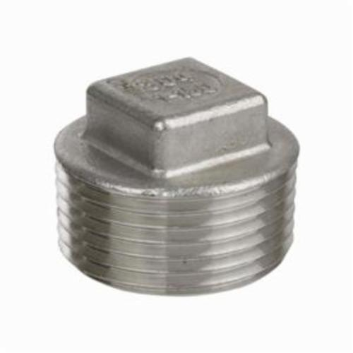 Smith-Cooper® S3114SP010 S3014SP Square Head Pipe Plug, 1 in, MNPT, 150 lb, 304 Stainless Steel
