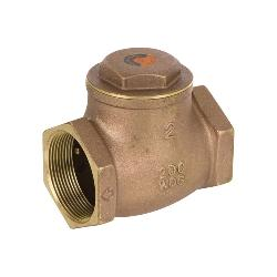Smith-Cooper® 01739191N 9191 Swing Check Valve, 2 in Nominal, Threaded End Style, 200 lb CWP, Fiber-H Softgoods, Brass Body