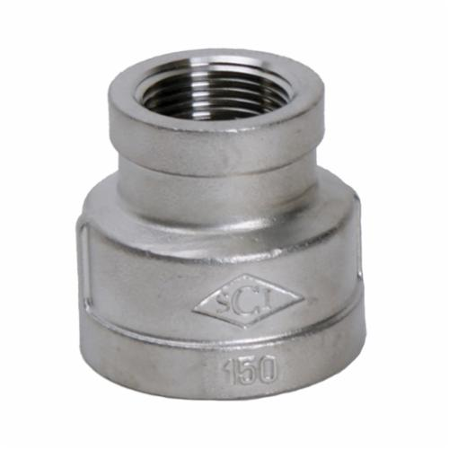 Smith-Cooper® S3114RC012002 S3014RC Reducing Coupling, 1-1/4 x 1/4 in, FNPT, 150 lb, 304 Stainless Steel
