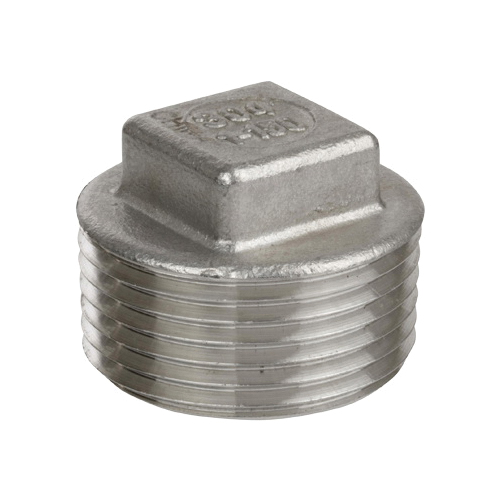 Smith-Cooper® S3116SP014 S3016SP Square Head Plug, 1-1/2 in, MNPT, 150 lb, 316 Stainless Steel