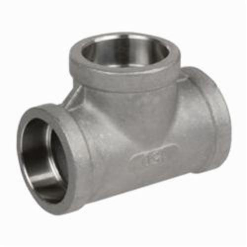 Smith-Cooper® S3714T 020 Pipe Tee, 2 in, Socket Weld, 150 lb, 304 Stainless Steel