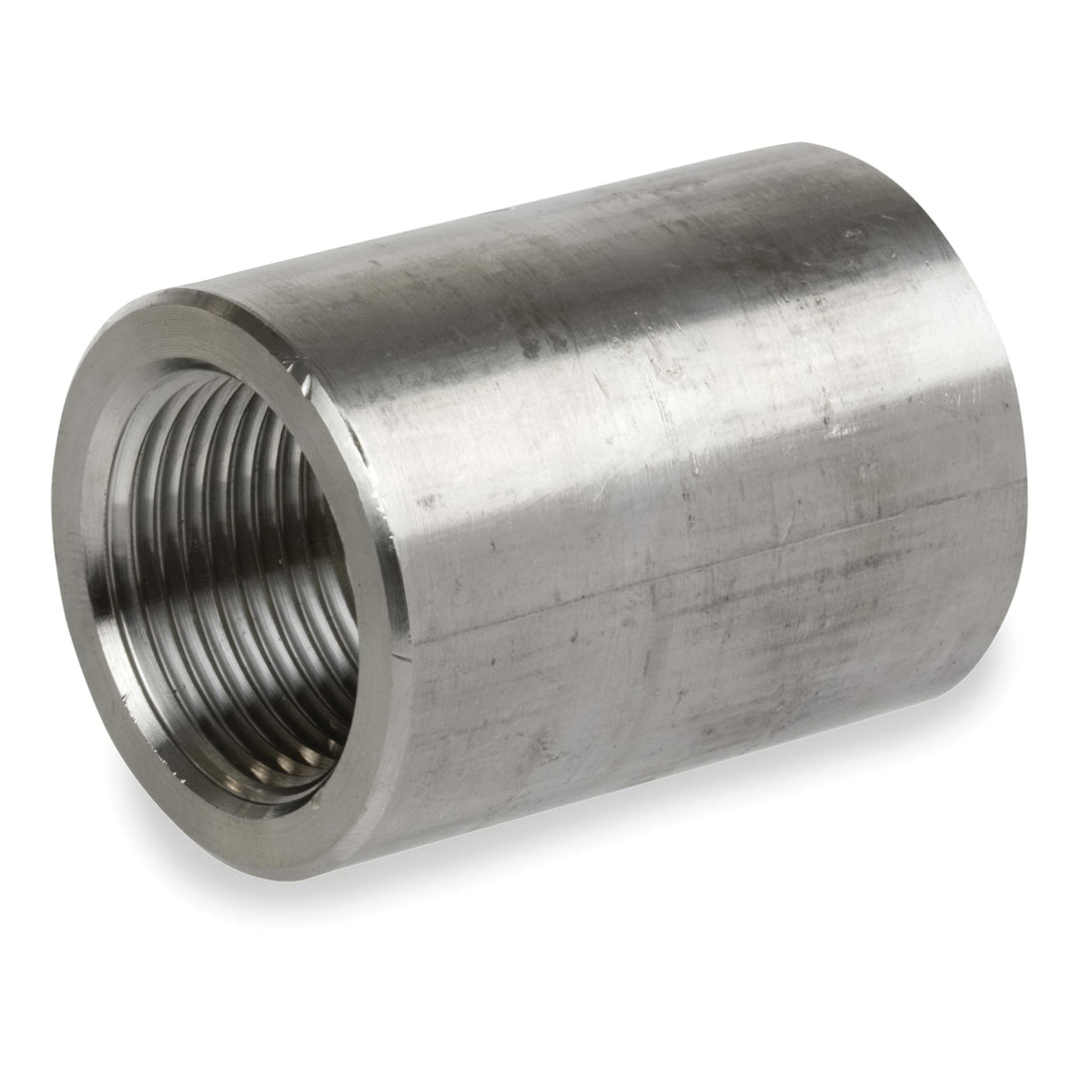 Smith-Cooper® S4034CP010 Full Coupling, 1 in, Threaded, 3000 lb, 304L Stainless Steel