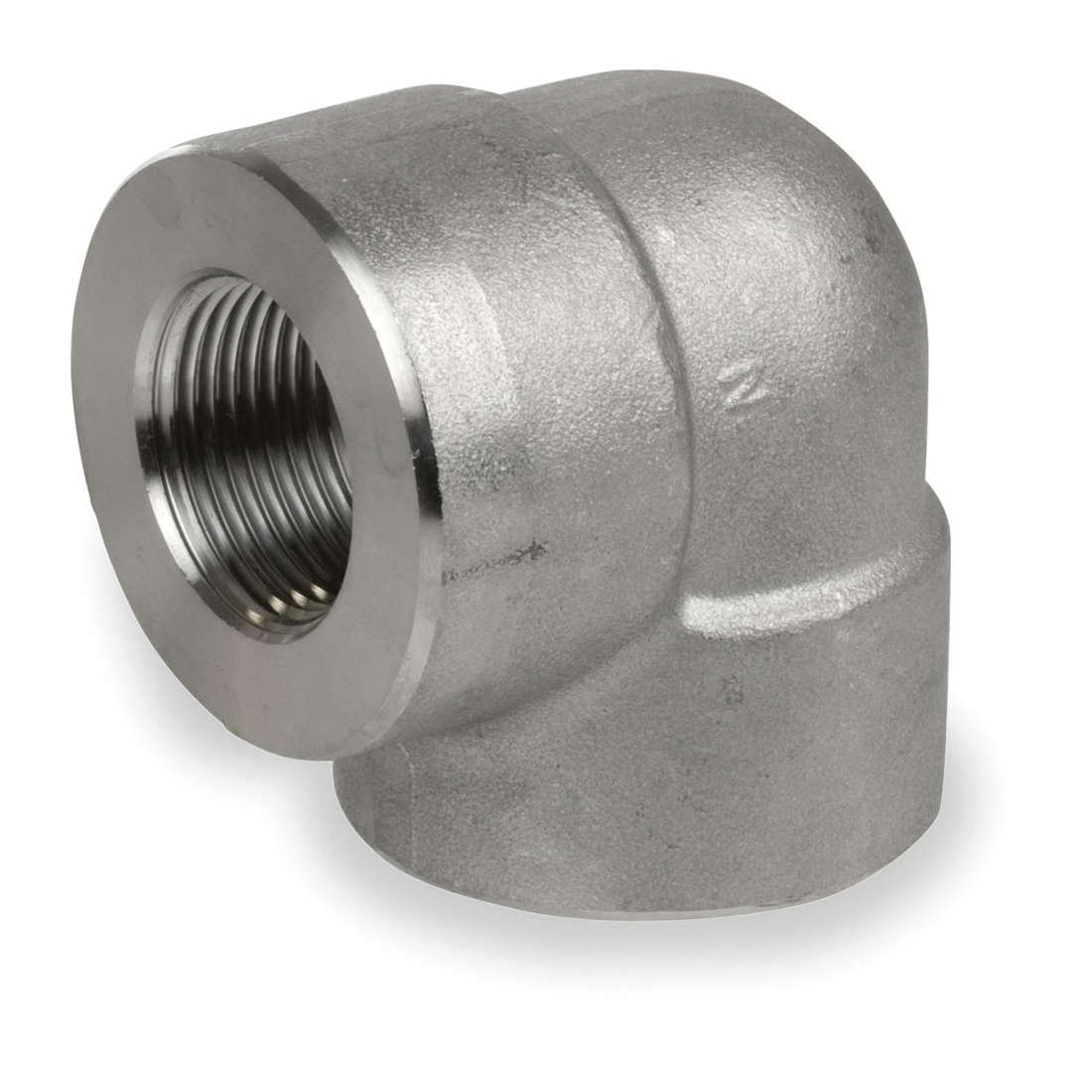 Smith-Cooper® S4034E 020 90 deg Elbow, 2 in, Threaded, 3000 lb, 304L Stainless Steel
