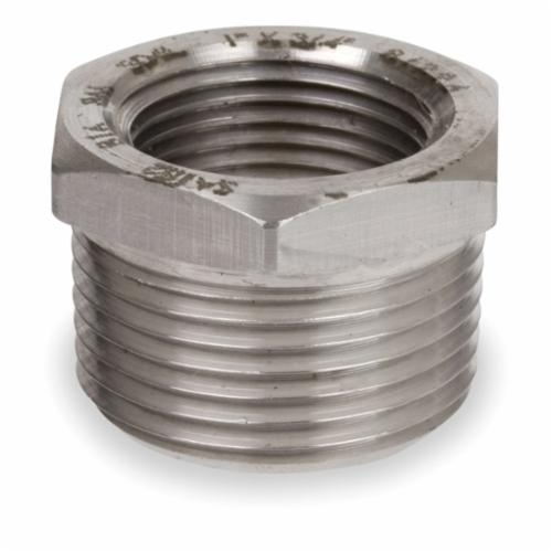 Smith-Cooper® S4034HB014006 Hex Head Bushing, 1-1/2 x 3/4 in, Threaded, 3000 lb, 304L Stainless Steel