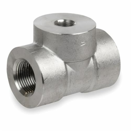 Smith-Cooper® S4034RT014012 Reducing Tee, 1-1/2 x 1-1/2 x 1-1/4 in, Threaded, 3000 lb, 304L Stainless Steel