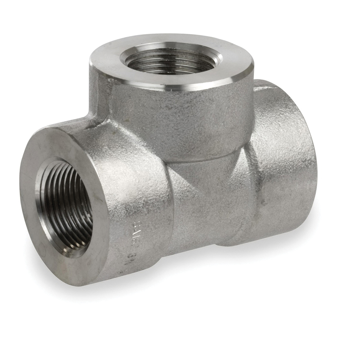 Smith-Cooper® S4034T 024 Tee, 2-1/2 in, Threaded, 3000 lb, 304L Stainless Steel