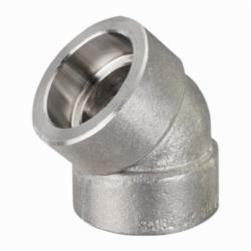 Smith-Cooper® S5034F 014 Pipe 45 deg Elbow, 1-1/2 in, Socket Weld, 3000 lb, 304 Stainless Steel
