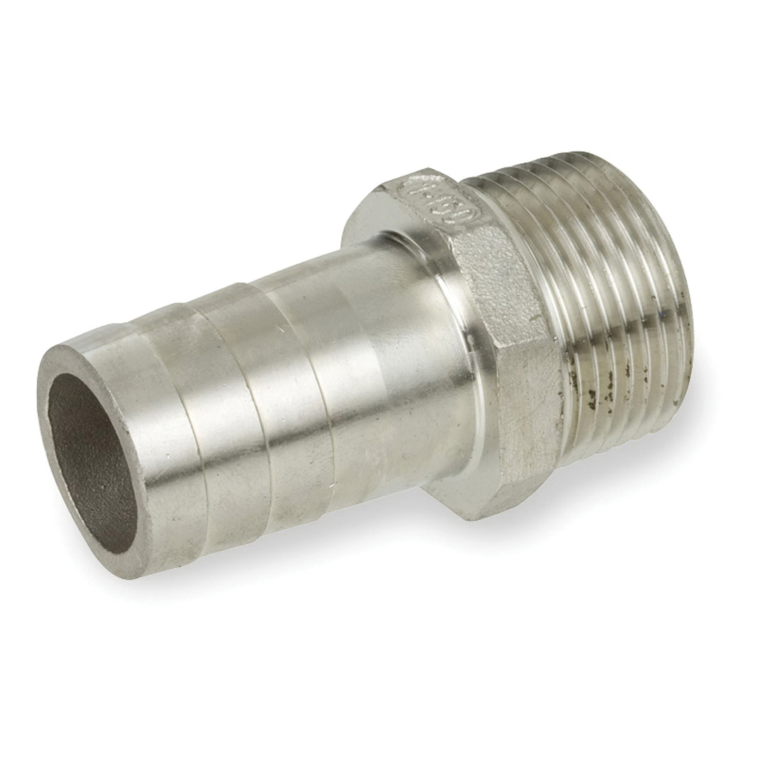 Smith-Cooper® S8346KN006 King Nipple, 3/4 in, Hose x Thread, 316 Stainless Steel