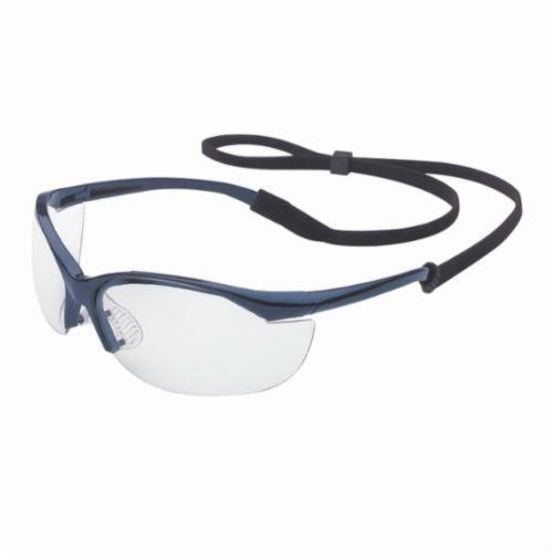 Sperian® by Honeywell 11150900 Vapor® Lightweight Safety Eyewear, Anti-Scratch Clear Lens, Wraparound Metallic Blue Nylon Frame, Polycarbonate Lens, Specifications Met: ANSI Z87.1-2010, CSA Z94.3, AS/NZS 1337