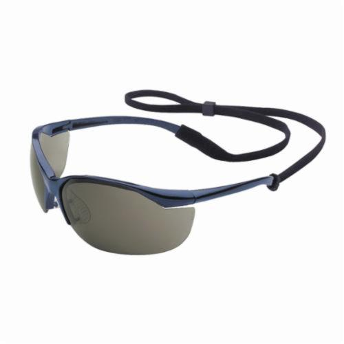 Sperian® by Honeywell 11150901 Vapor® Lightweight Safety Eyewear, Anti-Scratch, TSR Gray Lens, Wrap Around Frame, Metallic Blue, Nylon Frame, Polycarbonate Lens, ANSI Z87.1-2010, CSA Z94.3, AS/NZS 1337