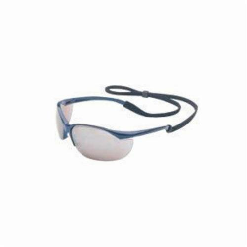 Sperian® by Honeywell 11150904 Vapor® Lightweight Safety Eyewear, Anti-Scratch Silver Mirror Lens, Wraparound Metallic Blue Nylon Frame, Polycarbonate Lens, Specifications Met: ANSI Z87.1-2010, CSA Z94.3, AS/NZS 1337
