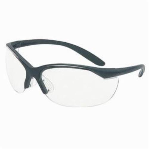 Sperian® by Honeywell 11150910 Vapor® II Dual Lens Safety Eyewear, Anti-Scratch, Clear Lens, Wrap Around Frame, Black, Nylon Frame, Polycarbonate Lens, ANSI Z87.1-2010, CSA Z94.3
