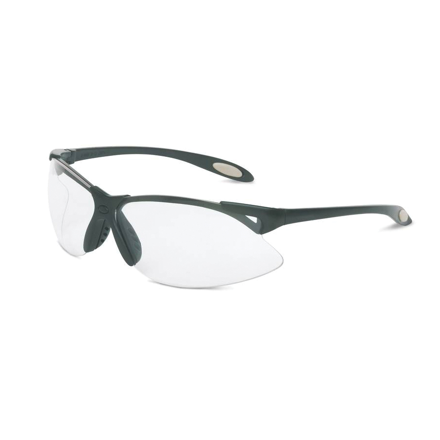 Sperian® by Honeywell A901 A900 Dual Lens Safety Eyewear, Uvextra® Anti-Fog Clear Lens, Wraparound Black Polycarbonate Frame, Polycarbonate Lens, Specifications Met: ANSI Z87.1-2010, CSA Z94.3