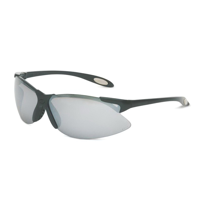 Sperian® by Honeywell A904 A900 Dual Lens Safety Eyewear, Anti-Scratch/Hard Coat, Silver Mirror Lens, Wrap Around Frame, Black, Polycarbonate Frame, Polycarbonate Lens, ANSI Z87.1-2010, CSA Z94.3