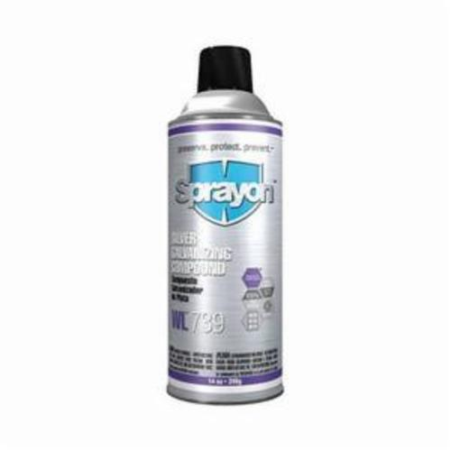 Sprayon® S00739000 WL™739 Silver Galvanizing Compound, 14 oz, Gray, 10 to 15 sq-ft/can Coverage, Medium Gloss