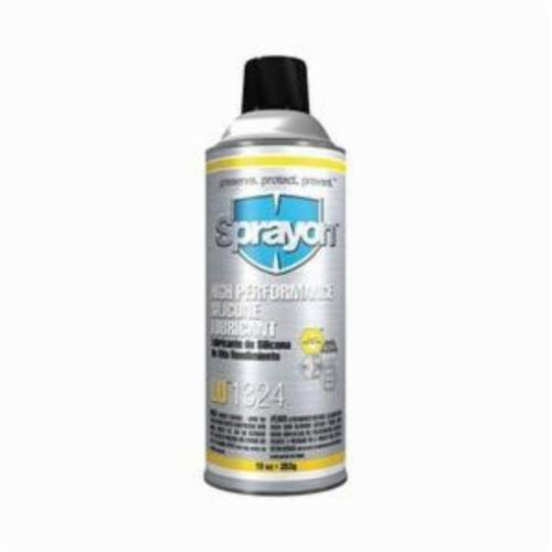 Sprayon® S01324000 LU™1324 High Performance Light Pressure Silicone Lubricant, 16 oz Aerosol Can, Liquid Form, Clear Glass, -40 to 400 deg F