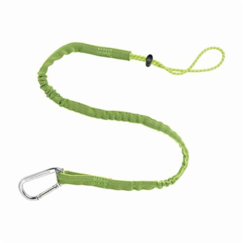 Squids® 19013 3100 Extended Tool Lanyard With Single Action Aluminum Carabiner, 10 lb Working Load Capacity, Choke-Off Loop Connection, Nylon Webbing