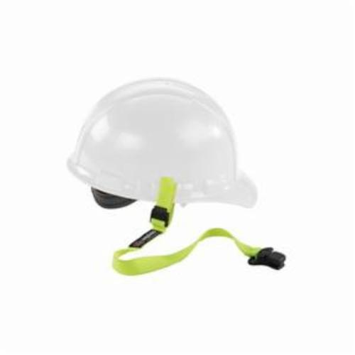Squids® 19155 3155 Standard Lanyard With Clamp, For Use With Clamp Hard Hat, 2 lb Working, Elastic/Elastomer, Hi-Viz Lime