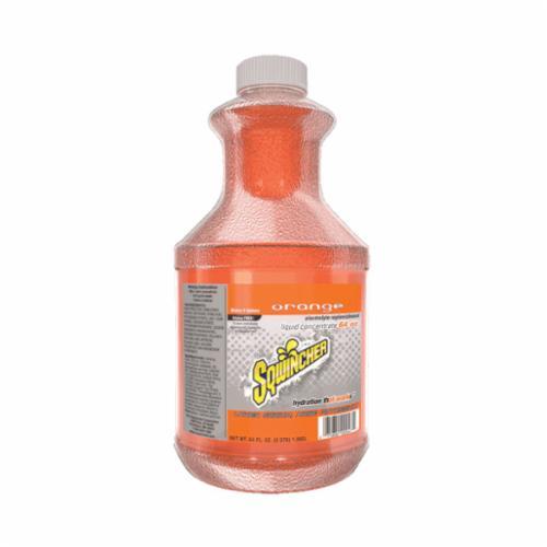 Sqwincher® 030324-OR Sports Drink Mix, 64 oz Bottle, 5 gal Yield, Liquid Form, Orange