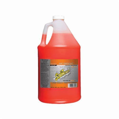 Sqwincher® 040204-OR Sports Drink Mix, 128 oz Bottle, Liquid, 6 gal Yield, Orange