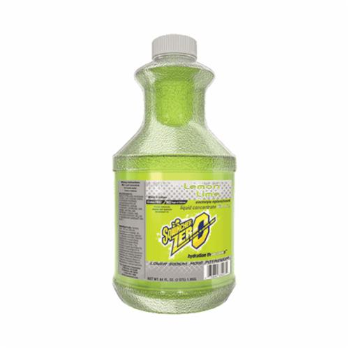 Sqwincher® 050104-LL Zero Sugar Free Sports Drink Mix, 64 oz Bottle, Liquid, 5 gal Yield, Lemon Lime