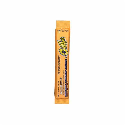 Sqwincher® 060100-OR Qwik Stik™ Zero Sugar Free Sports Drink Mix, 0.11 oz Pack, 20 oz Yield, Powder Form, Orange