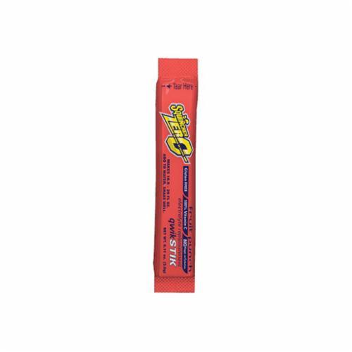 Sqwincher® 060102-FP Qwik Stik™ Zero Sugar Free Sports Drink Mix, 0.11 oz Pack, 20 oz Yield, Powder Form, Fruit Punch