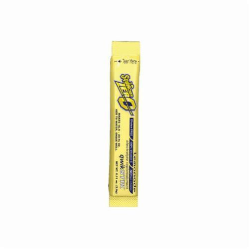Sqwincher® 060103-LA Qwik Stik™ Zero Sugar Free Sports Drink Mix, 0.11 oz Pack, Powder, 20 oz Yield, Lemonade