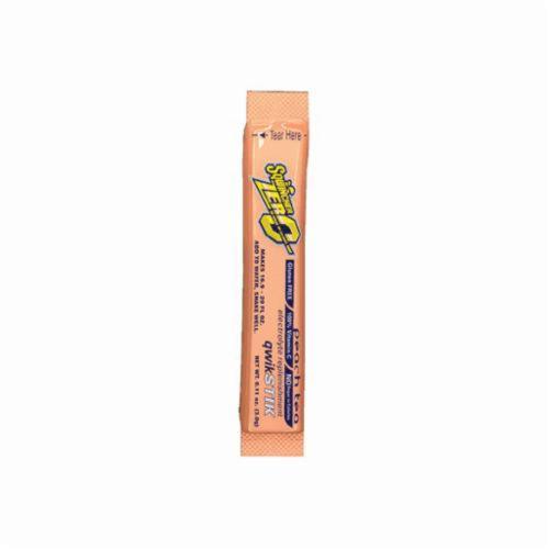 Sqwincher® 060104-PT Qwik Stik™ Zero Sugar Free Sports Drink Mix, 0.11 oz Pack, Powder, 20 oz Yield, Peach Tea